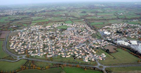 Vue aérienne Agglomération La Bruffière