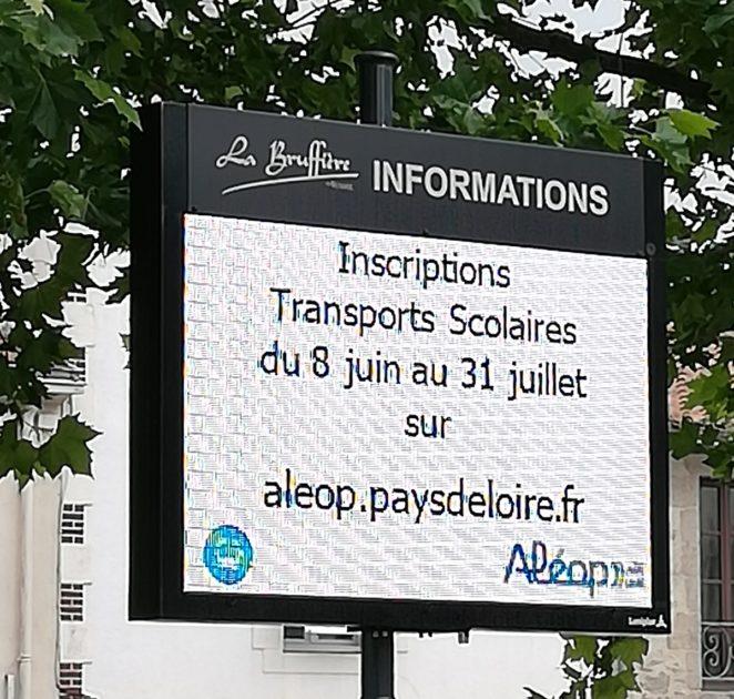 Panneau lumineux Place Jeanne d'Arc