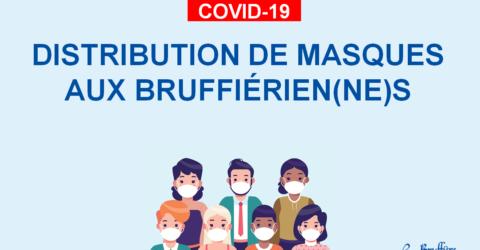 Distribution de masques aux habitants de La Bruffière