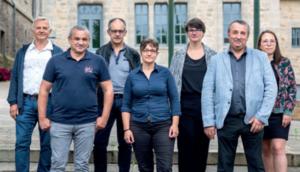 Les membres de la commission finances & administration générale