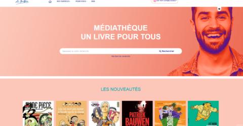 Page d'accueil du portail dédié médiathèque de La Bruffière