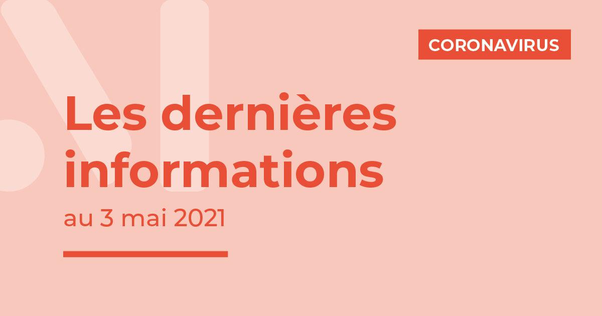 Illustration : dernières informations Covid-19 3 mai 2021 Terres de Montaigu
